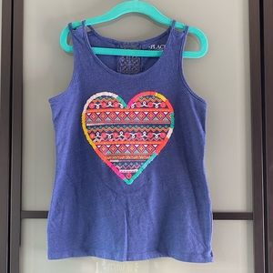 Girls colourful heart Sleeveless tank top